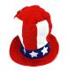 shopbestlove: USA Patriotic Stovepipe Hat [10in Tall]