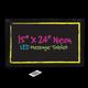 shopbestlove: Large Writing Neon LED Message Tablet [15x24] w/ remote