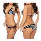 shopbestlove: Black And White Tiger Style Bikini Set - one size for all