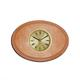 shopbestlove: Blonde Oval Bead Wood Finish clock w/ 2 inch dial