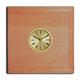 shopbestlove: Blonde Square Bead Wood Finish clock w/ 2 inch dial