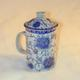 shopbestlove: Porcelain Tea Cup w/ Strainer and Lid