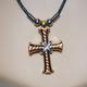 shopbestlove: Metal 3D Cross with Rope Necklace and Clasp