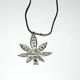 shopbestlove: Large Pot Leaf Link w/ Rope Necklace and Clasp